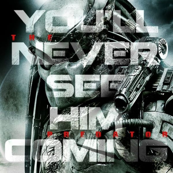 A teaser image of the upcoming sequel to Predator.