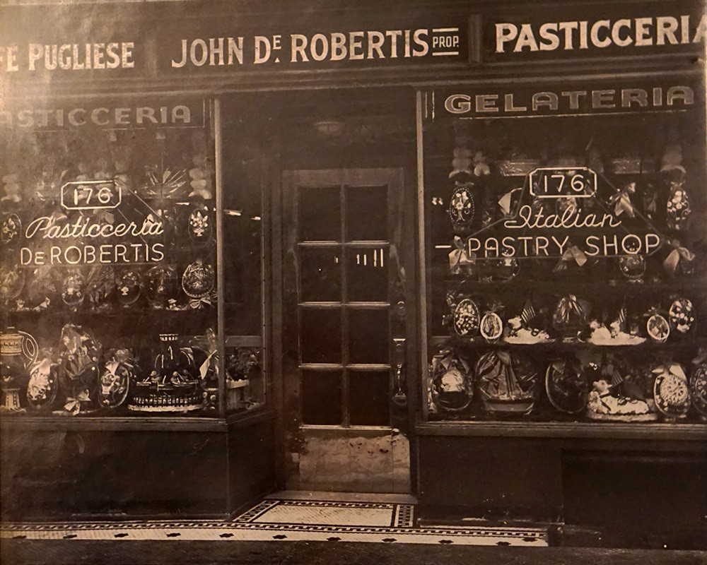 An Italian pastry shop from the past.