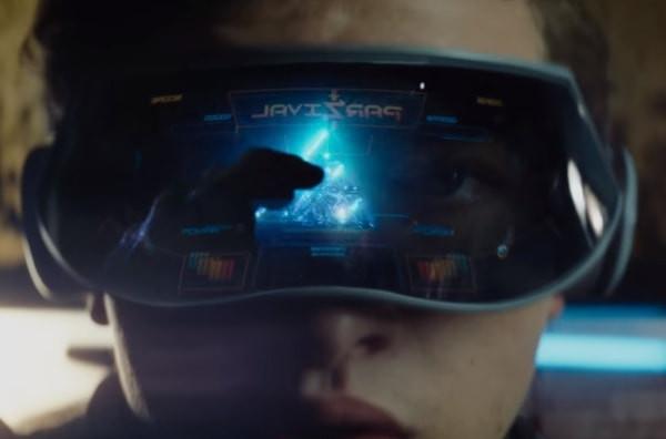 Wade Watts wearing his gaming visor and preparing to enter the OASIS.