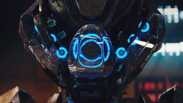 Close-up of Kill Command's main robot.
