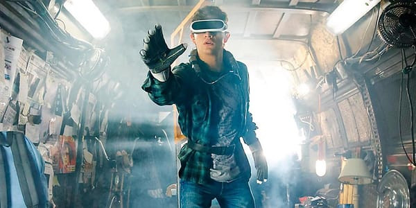 Ready Player One's main character Wade Watts prepares to enter The Oasis.