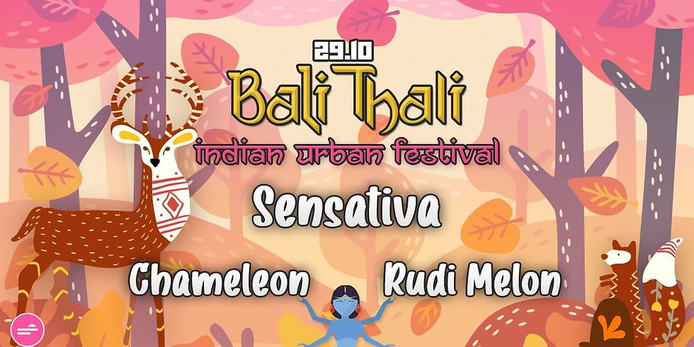 באלי טאלי ॐ פסטיבל הודי אורבני 29.10 Sensativa ✦ Rudi Melon ✦ Chameleon