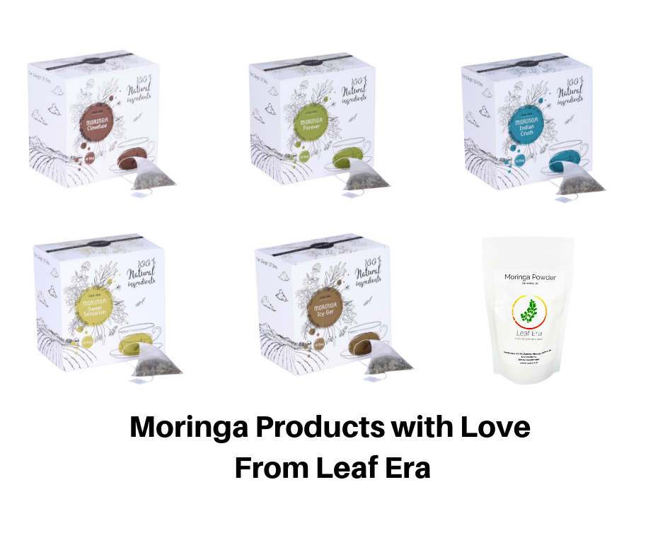 Leaf Era Pure Moringa Products with love
