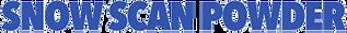 Snow Scan Powder Transparent Flyer Logo.