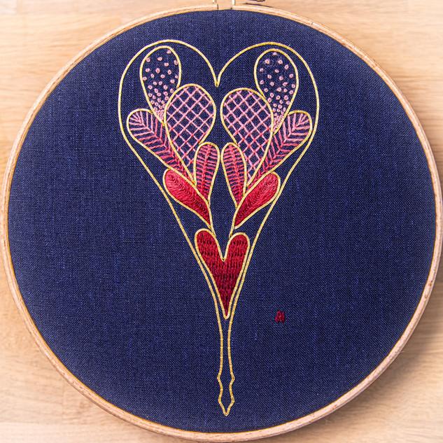 Crewel Heart