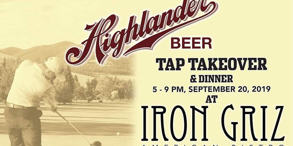 Highlander Beer Tap Takeover & Dinner