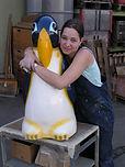 Diana mit Pinguin