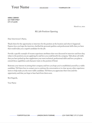 April 2019 Follow Up Letter | the part two