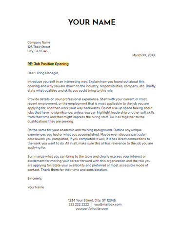 June 2019 Cover Letter | the part two