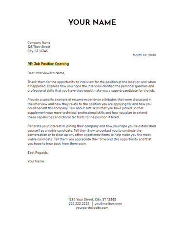 June 2019 Follow Up Letter | the part two