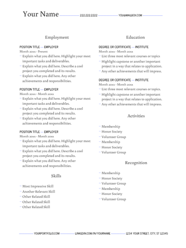 April 2019 Resume   the part two
