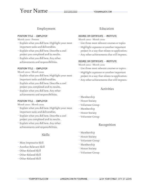 April 2019 Resume | the part two
