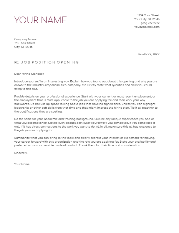August 2019 Cover Letter   the part two