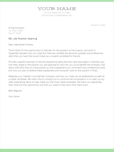 March 2019 Follow Up Letter | the part two