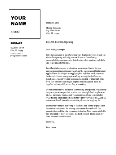 February 2019 Cover Letter | the part two