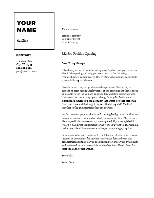 February 2019 Cover Letter   the part two