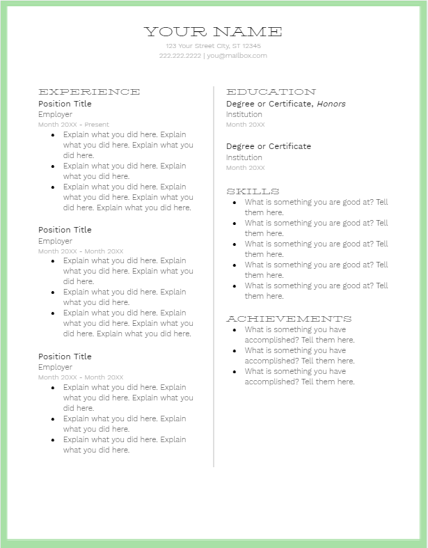 March 2019 Resume | the part two