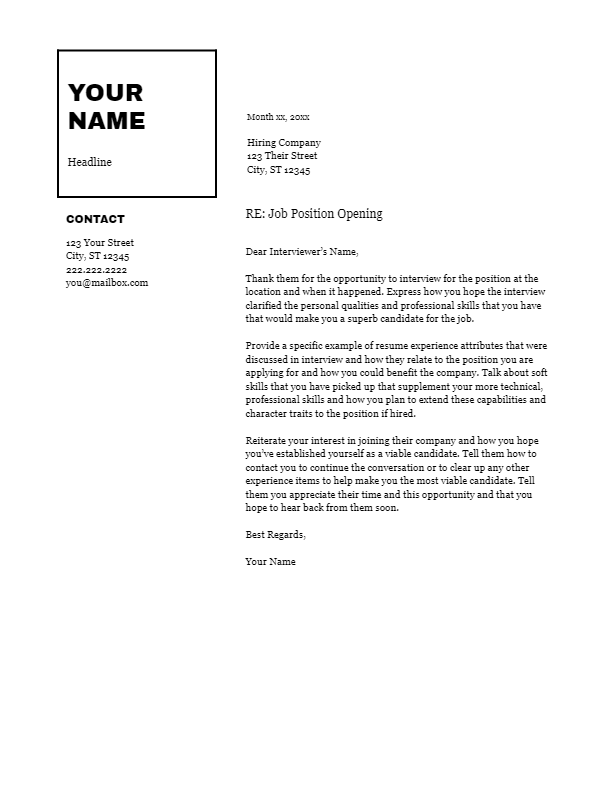 February 2019 Follow Up Letter   the part two
