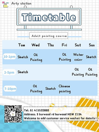 adults art class timetable