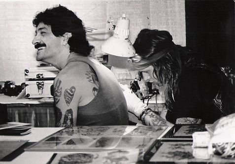 BERNIE LUTHER TATTOOING LOU SCIBERRAS