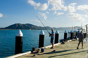 Fishing on Cooktown Wharf