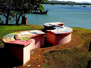 Cooktown's famous Milbi Wall - a popular local reconciliation project