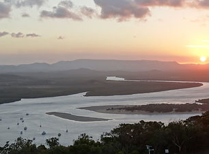 Fabulous panoramic views from Cooktown's Grassy Hill Lookout