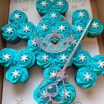 ❄️🌨️Frozen Snowflake Cupcake Cake❄️🌨️