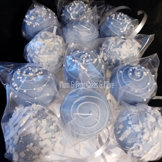Blue & White Cakepops