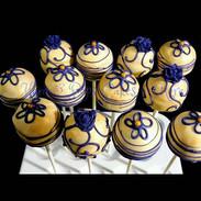 Purple & Gold Cakepops