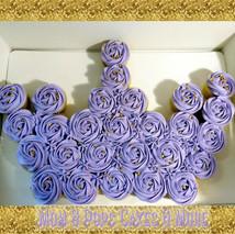 👑Purple Crown Pull Apart Cupcake cake