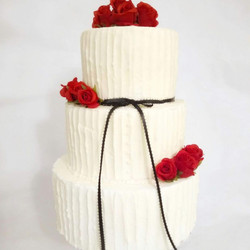 3 Tier Rustic Cake