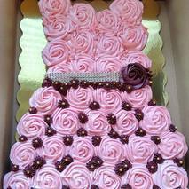 🧁+👗=☺️ Dress Cupcake Cake