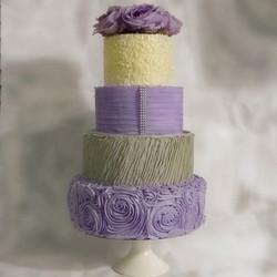 A Stunning 4 Tier Buttercream Wedding Cake