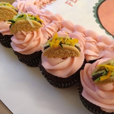🌮Taco Cupcake Cake🍥