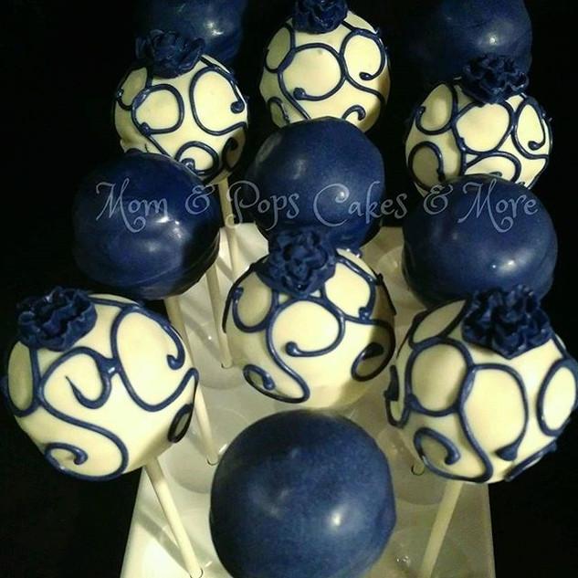 💙Blue & White Cakepops