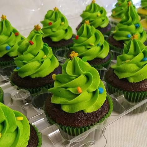 🎄🧁🎄🧁 Christmas Tree Cupcakes