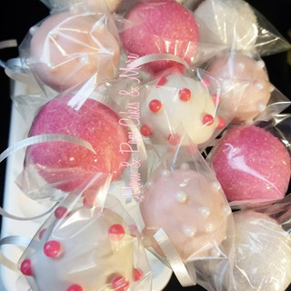 💕Pink & White Baby Shower Cakepops🌸
