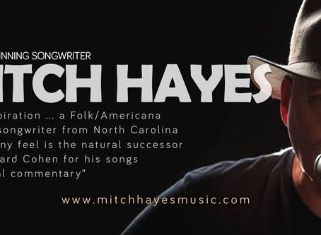 Friday, November 15, 2019 @7pm Songwriter- Mitch Hayes from Charlotte, NC