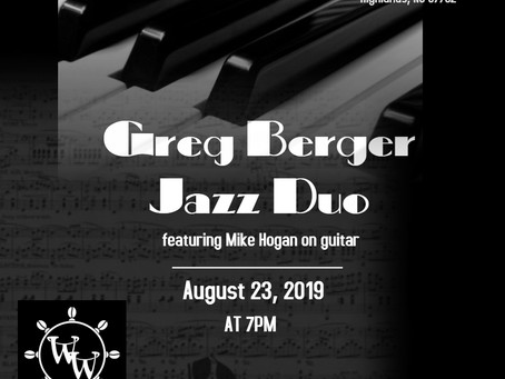 CANCELLED ---Greg Berger Jazz Duo Friday Aug. 23, 2019