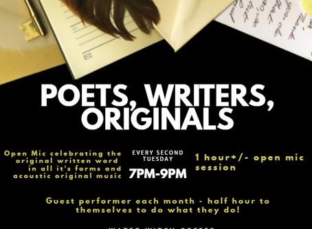 Tuesday Nov. 12, 2019 Poets, Writers & Originals