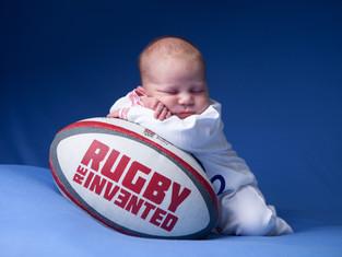 Newborn Rugby Photoshoot