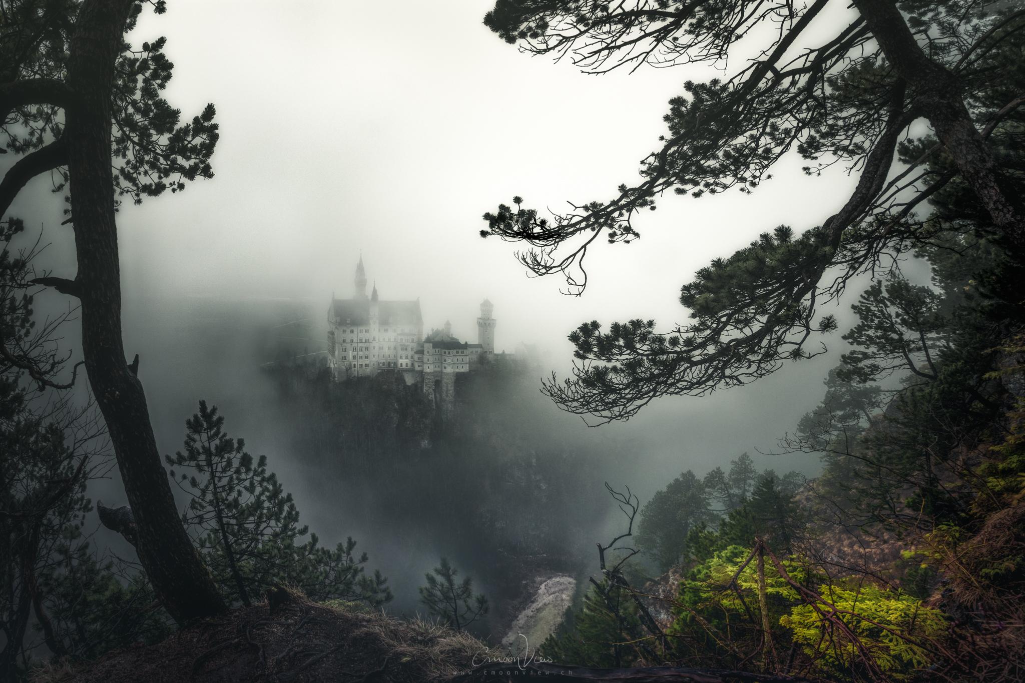 foggy neuschwanstein