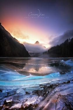 foggy sunset_