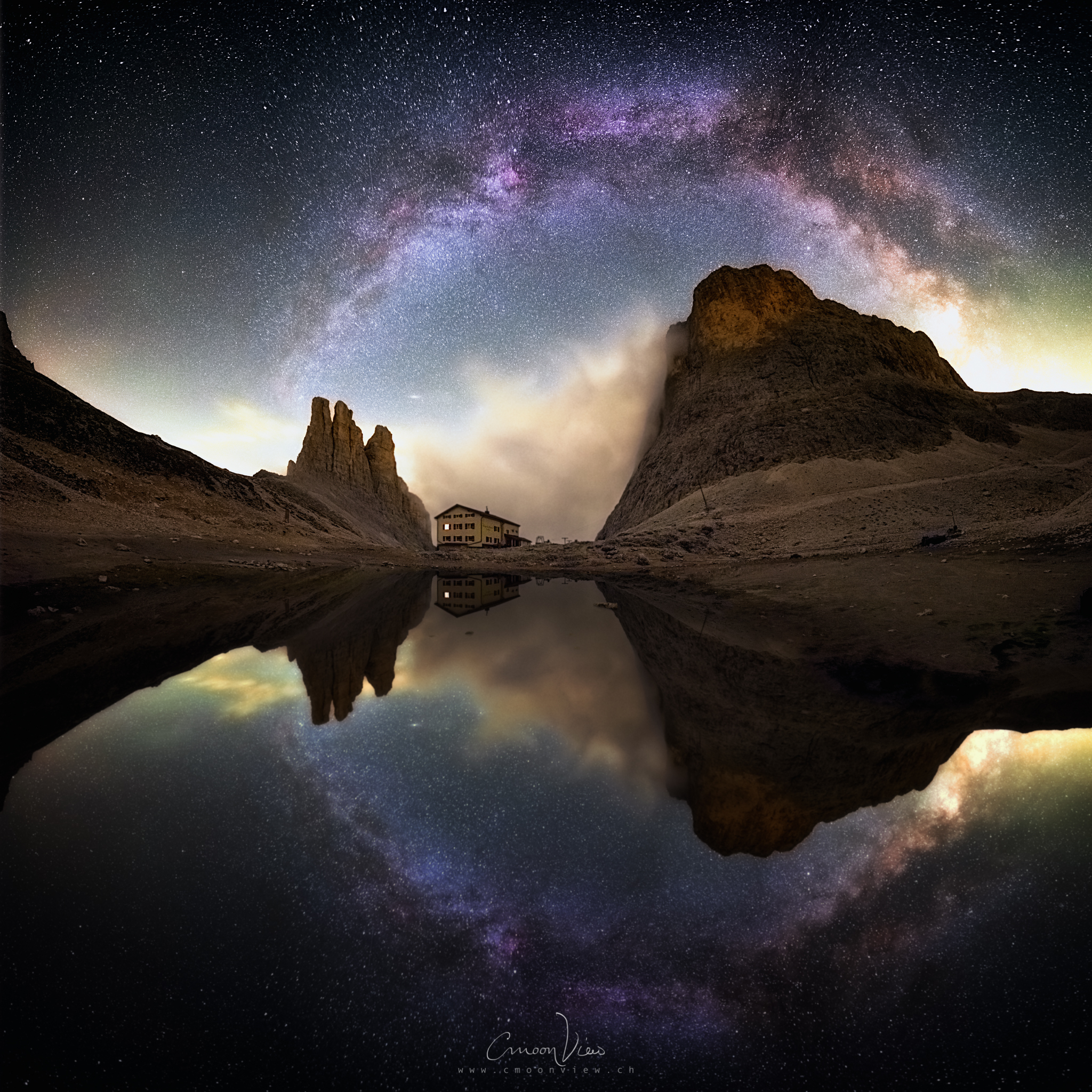 milky way photo: dreamy mirror