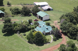 Arial views of the homestead