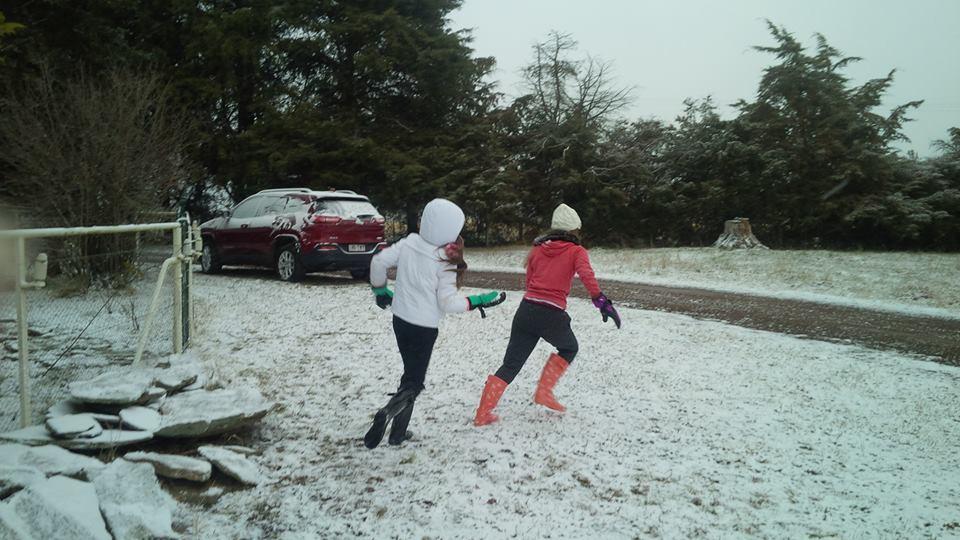 Fun in the Snow at Sharron Park