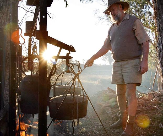 Sharron Park Drovers Kitchen - an outdoor camp oven dinner