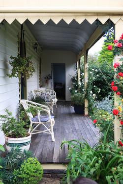 Relax on the veranda at Sharron Park