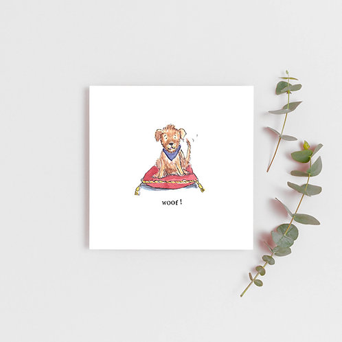 Shaggy dog Greetings card